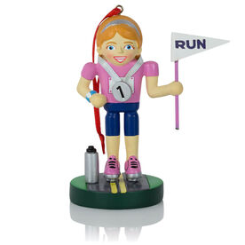 Running Ornament - Runner Girl Nutcracker