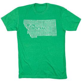 Running Short Sleeve T-Shirt - Montana State Runner