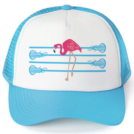 Girls Lacrosse Trucker Hat Lax Flamingo