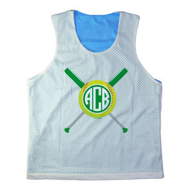 Girls Softball Racerback Pinnie Personalized Monogram Softball Bats Green
