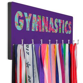 Gymnastics Hooked on Medals Hanger - Floral