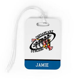 Figure Skating Bag/Luggage Tag - Chesapeake Synchronized Skating Logo with Name