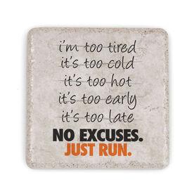 Running Stone Coaster - No Excuses. Just Run.