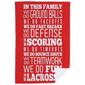 Lacrosse Premium Blanket - We Do Lacrosse