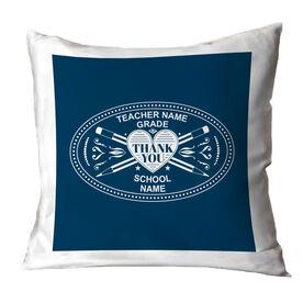 Teacher Throw Pillow - Heart Crest