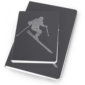 Skiing Notebook Personalized Words