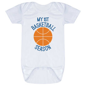 Basketball Baby One-Piece - My First Basketball Season
