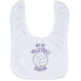 Volleyball Baby Bib - My First Volleyball Season