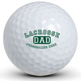 Lacrosse Dad (Block Logo) Golf Balls