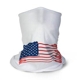 Guys Lacrosse Multifunctional Headwear - American Flag Sticks RokBAND