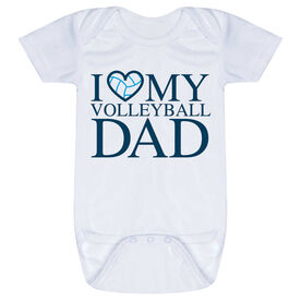 Volleyball Baby One-Piece - I Love My Volleyball Dad