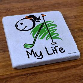 My Life Golf (Female) - Stone Coaster
