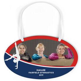 Gymnastics Oval Sign - Team Photo With Gymnast