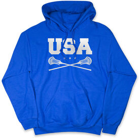 Guys Lacrosse Hooded Sweatshirt - USA Lacrosse