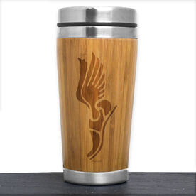 Bamboo Travel Tumbler Winged Foot