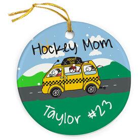 Hockey Porcelain Ornament Hockey Mom Taxi