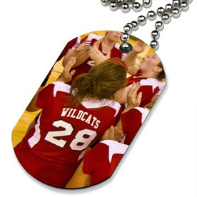 Custom Volleyball Photo Printed Dog Tag Necklace