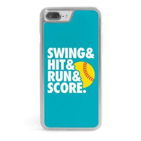 Softball iPhone® Case - Swing & Hit & Run & Score