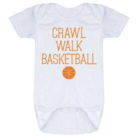Basketball Baby One-Piece - Crawl Walk Basketball