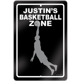 """Basketball Aluminum Room Sign Personalized Basketball Zone Guy (18"""" X 12"""")"""