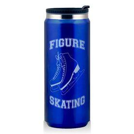 Stainless Steel Travel Mug Figure Skating Skates