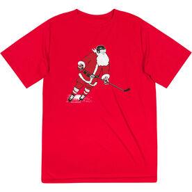 Hockey Short Sleeve Performance Tee - Slap Shot Santa