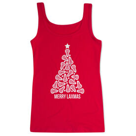 Lacrosse Women's Athletic Tank Top - Merry Laxmas Tree