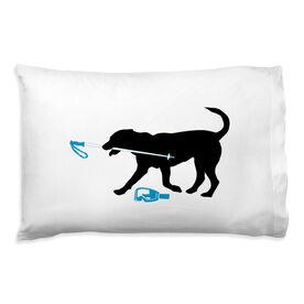 Skiing Pillowcase - Sven The Ski Dog