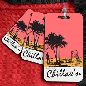 Lacrosse Bag/Luggage Tag Chillax'n Beach Girl