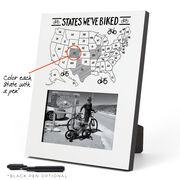 Photo Frame - States We've Biked Outline