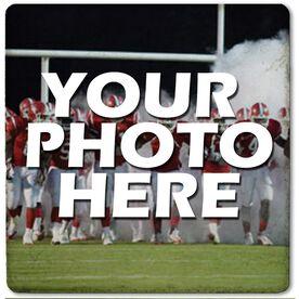 """Custom Football Photo - 4""""x4"""" - Stone Coaster"""