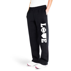 Softball Fleece Sweatpants - Softball Love (White)