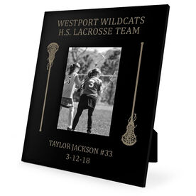 Girls Lacrosse Engraved Picture Frame - Side Sticks
