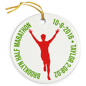 Running Porcelain Ornament Custom Running Logo