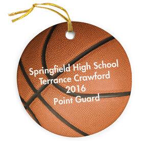 Basketball Porcelain Ornament Ball