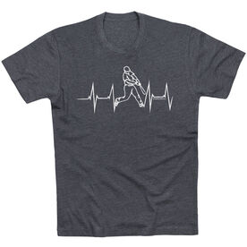 Baseball Tshirt Short Sleeve Heart Beat Baseball