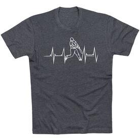 Baseball Tshirt Short Sleeve Heart Beat Baseball