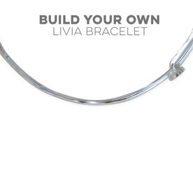 Livia Collection Design Your Own Adjustable Sterling Silver Bangle