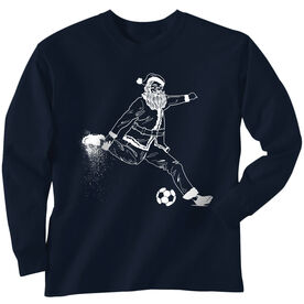 Soccer Long Sleeve Tee - Santa Player