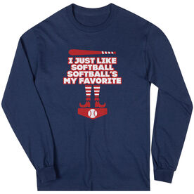 Softball Long Sleeve T-Shirt - Softball's My Favorite