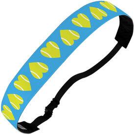 Tennis Julibands No-Slip Headbands - Tennis Ball Hearts