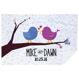 Personalized Premium Blanket - Love Birds Wedding Day