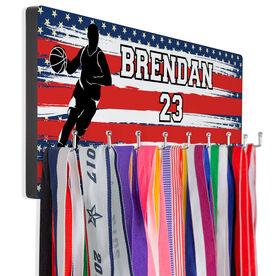 Basketball Hooked on Medals Hanger - USA Baller