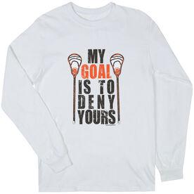 Guys Lacrosse Long Sleeve T-Shirt - My Goal Lacrosse