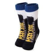 Hockey Skate Slipper Socks with Sherpa Lining