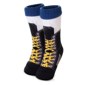 Hockey Skate Slipper Socks with Sherpa Lining