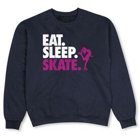 Figure Skating Crew Neck Sweatshirt - Eat Sleep Skate (Bold Text)