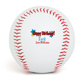 HAPPY BIRTHDAY Star Custom Baseball