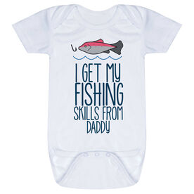 Fly Fishing Baby One-Piece - I Get My Skills From