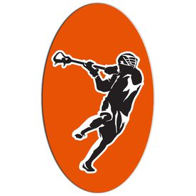 Guys Lacrosse Oval Car Magnet Overhand Rip